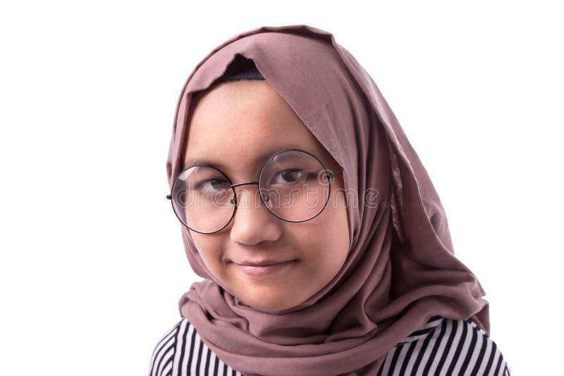Gl?ckliches moslemisches M?dchen stockfotos