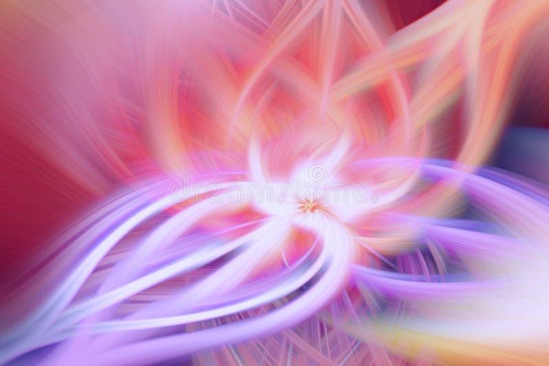 Gl?der modellen f?r neonbakgrundsenergi Abstrakt fantasi stock illustrationer