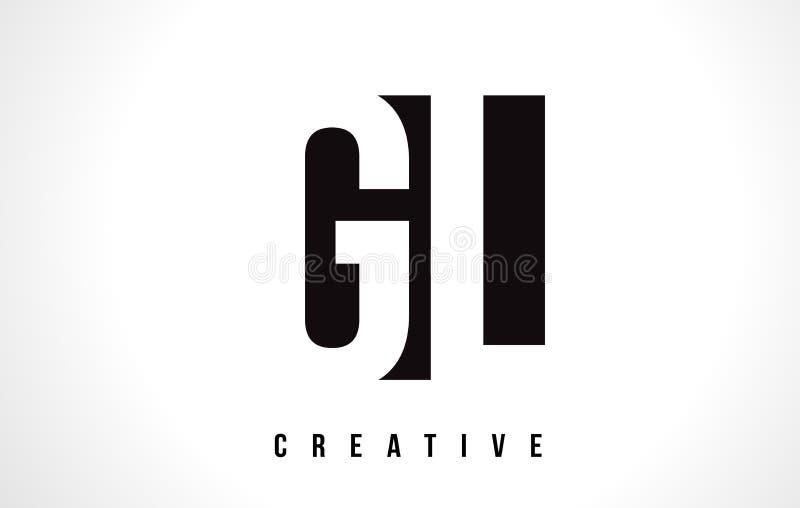 gl g l white letter logo design with black square stock vector rh dreamstime com