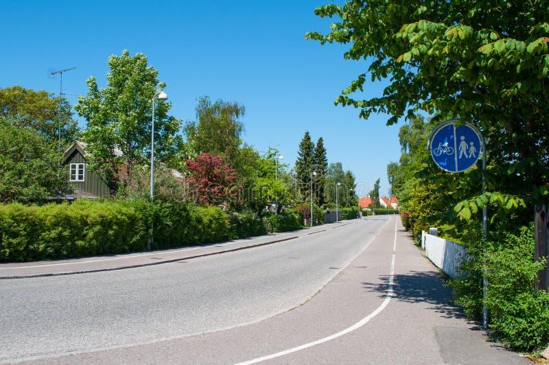 Gl Lyngevej in Allerod in Denemarken stock afbeelding