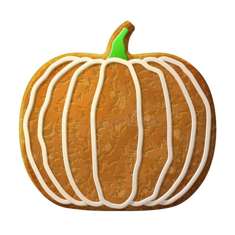 Glaçage coloré décoré par potiron de pain d'épice illustration libre de droits