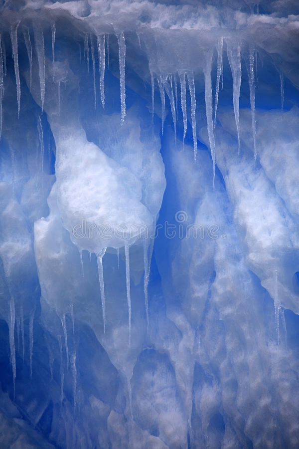 Glaçons en Antarctique image libre de droits