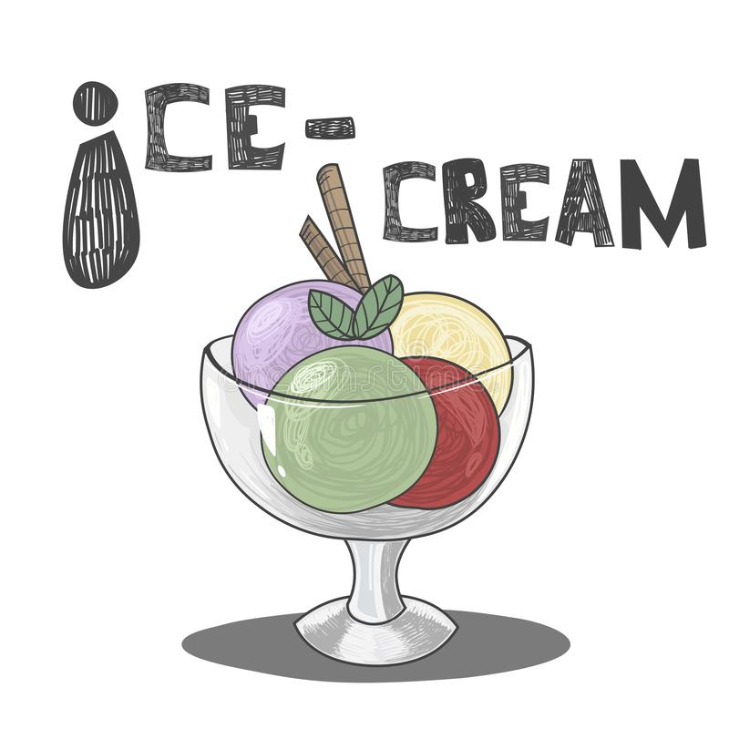 Glace ABC dirigent illustration de vecteur