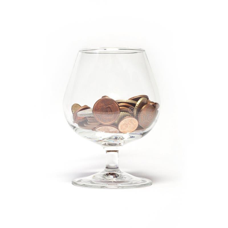 Glace avec d'euro cents photo libre de droits