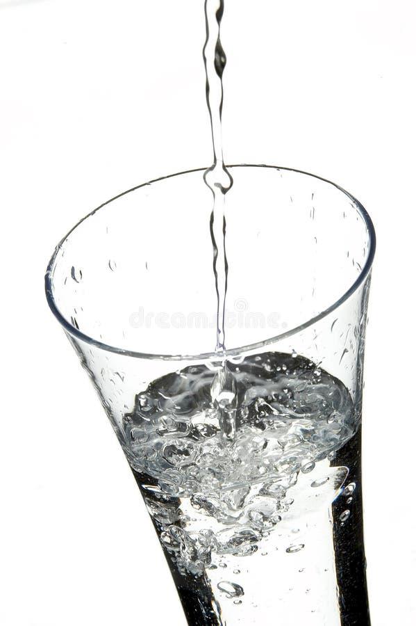 Glace avec de l'eau image stock