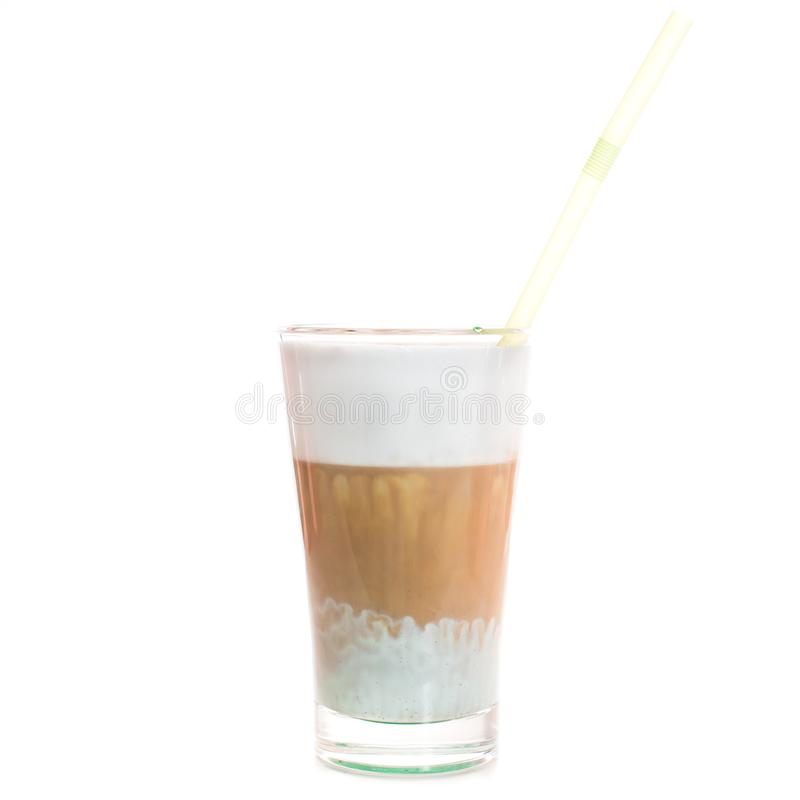 Glace avec du café images libres de droits