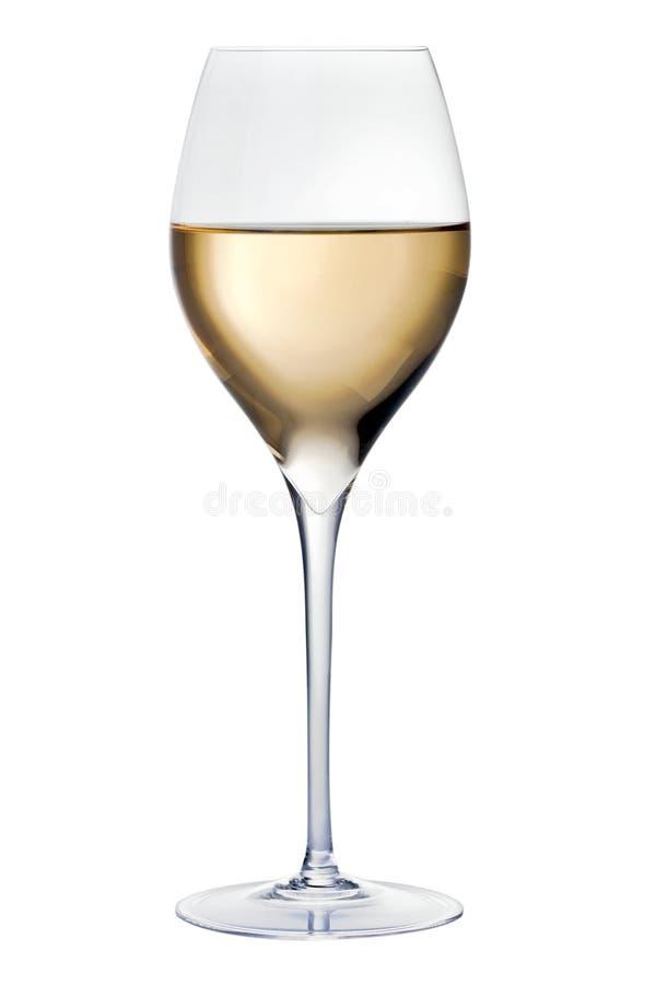 Glace avec du vin blanc image libre de droits