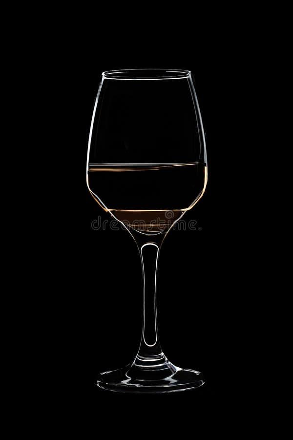 Glace avec du vin blanc images libres de droits