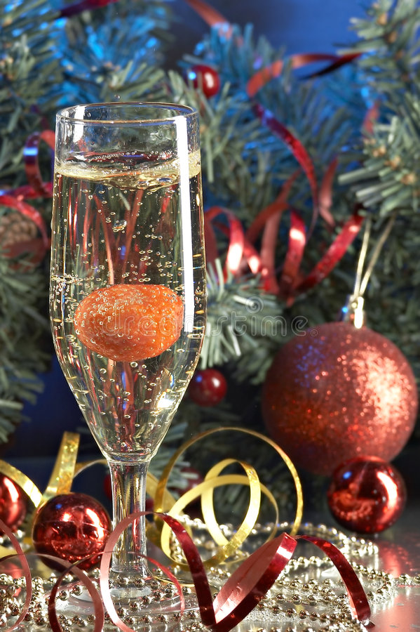 Glace avec le champagne photos stock