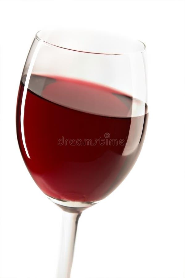 Glace avec le vin rouge photographie stock libre de droits