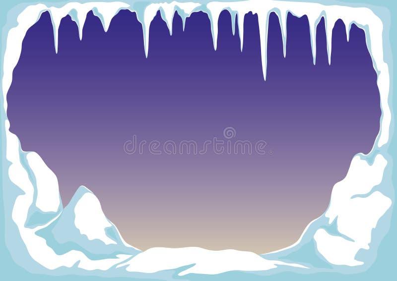 Glace avec les glaçons et la neige illustration libre de droits