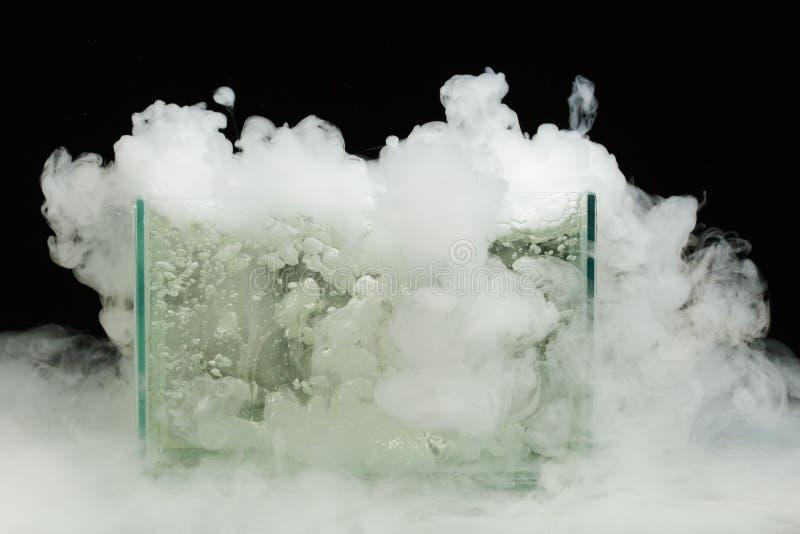 Glace carbonique de ébullition photos libres de droits