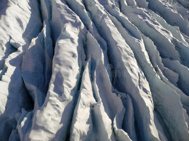 Glace/crevasse photo stock
