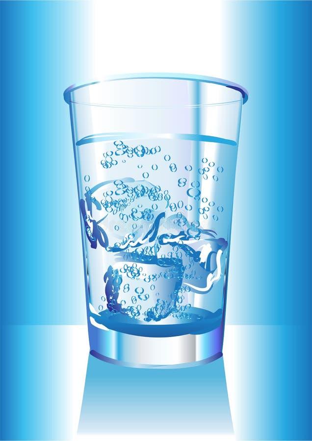 Glace d'eau illustration stock