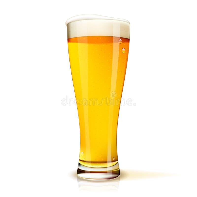 Glace d'isolement de bière illustration de vecteur