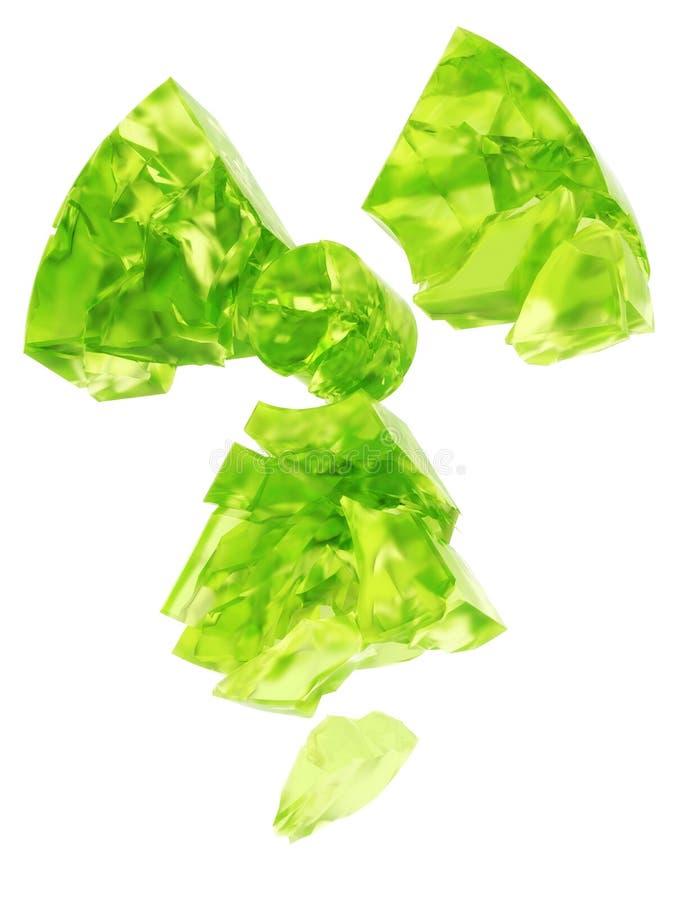 Glace d'uranium de logo de radioactivité illustration stock