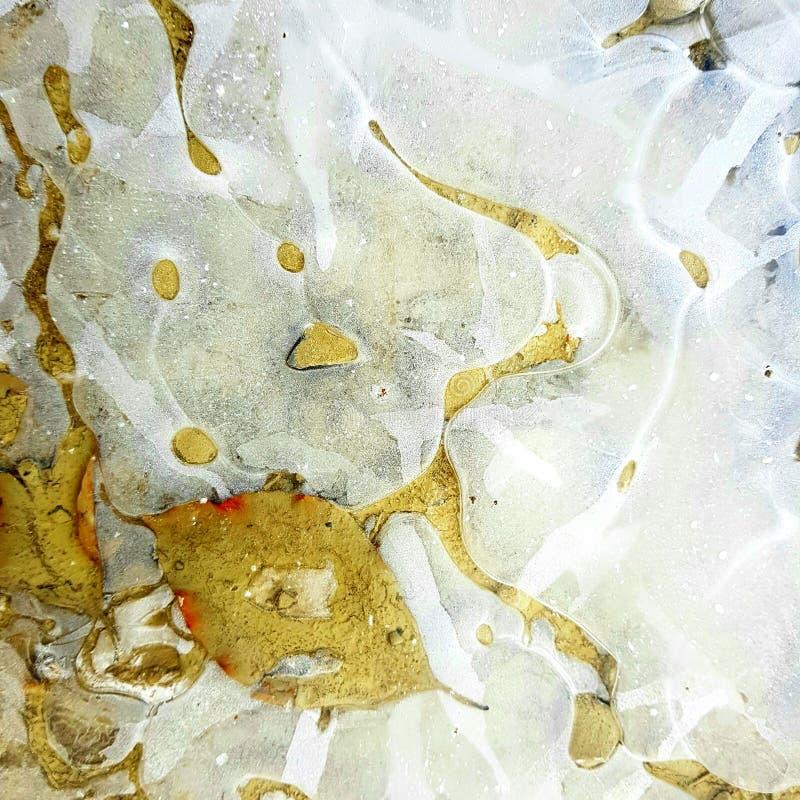 Glace dans un magma photographie stock libre de droits