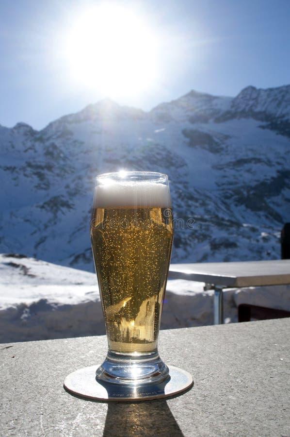 Glace de bière image libre de droits
