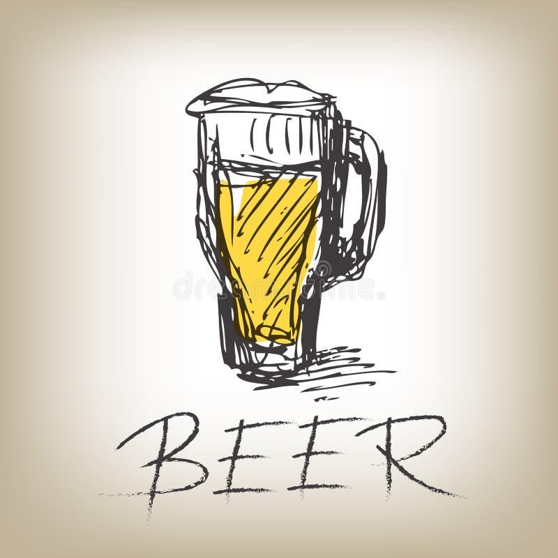 Glace de bière illustration libre de droits