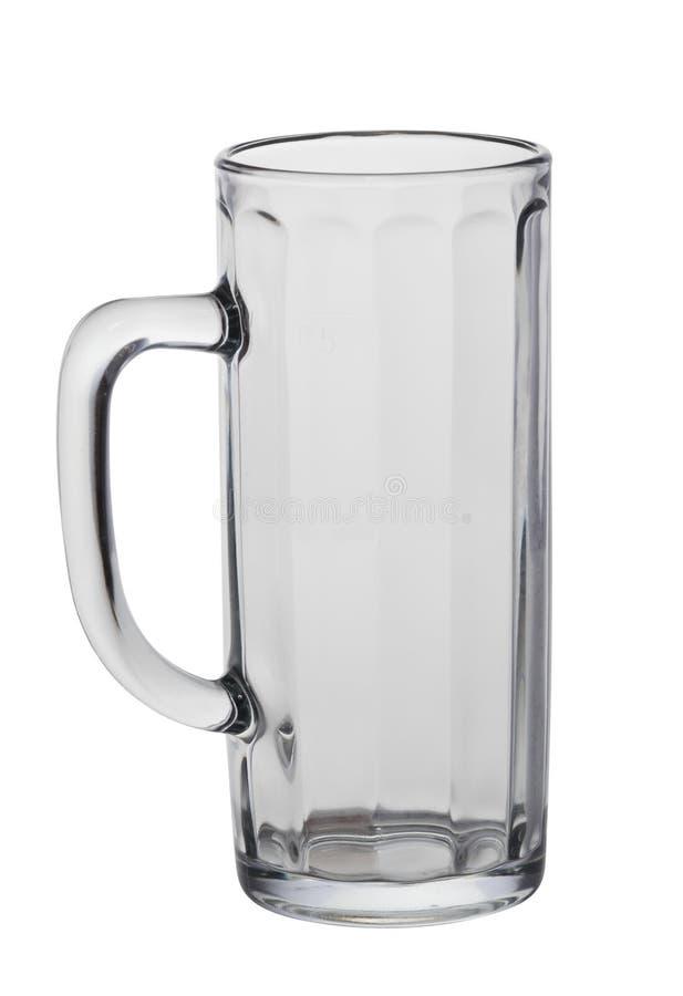 Glace de bière avec le chemin de découpage image libre de droits