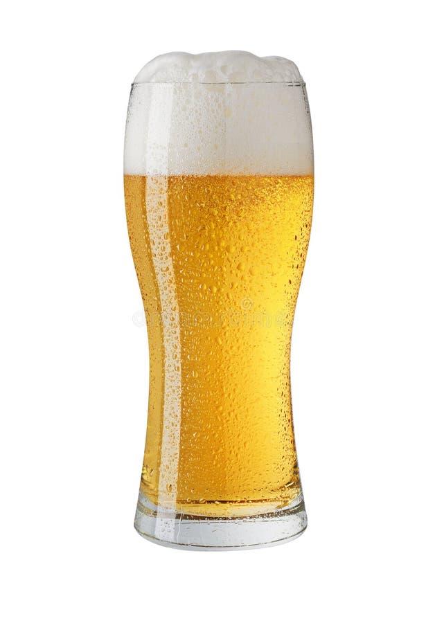Glace de bière d'isolement sur le blanc photographie stock