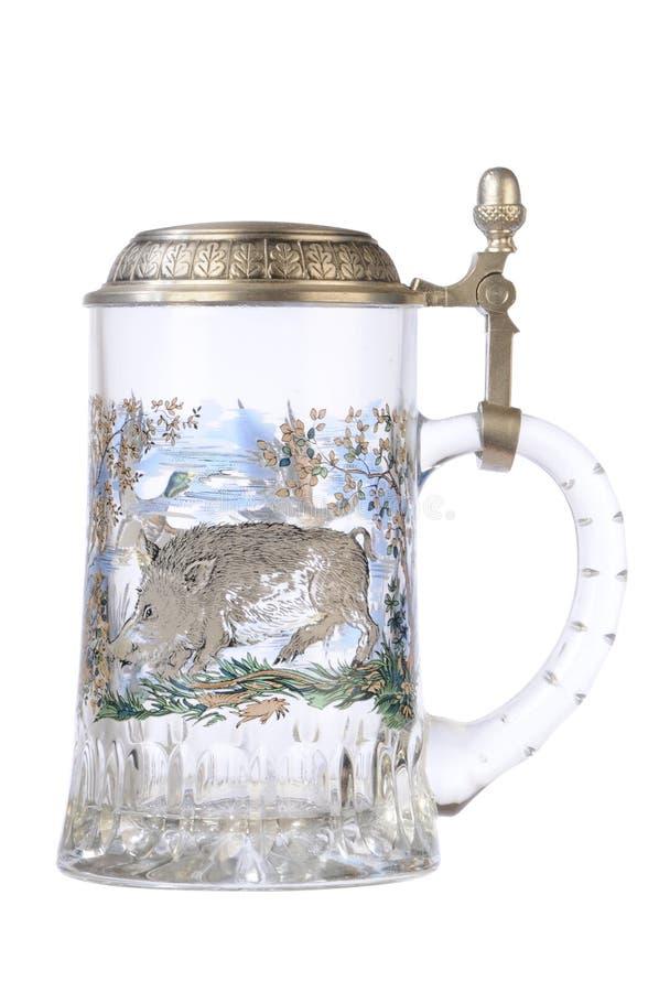 Glace de bière vide images stock