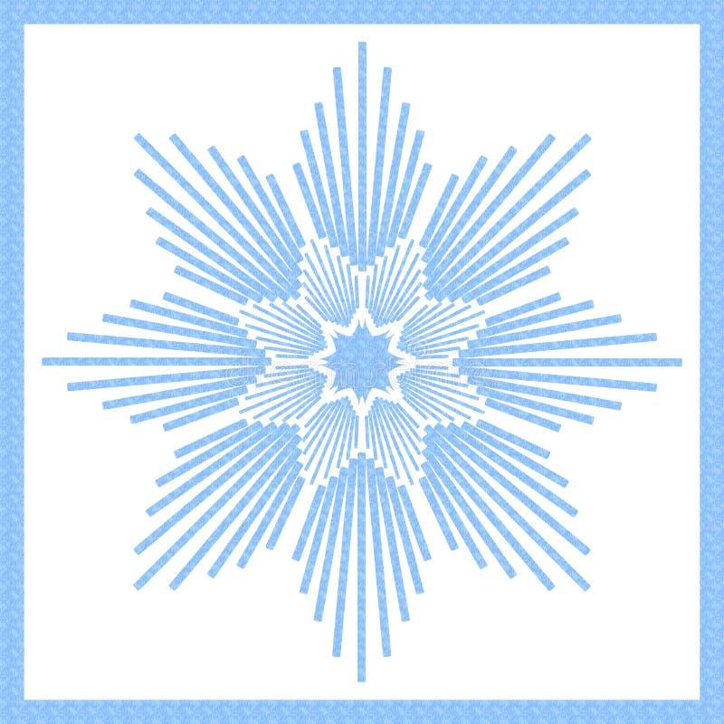 Glace de bleu d'étoile illustration de vecteur