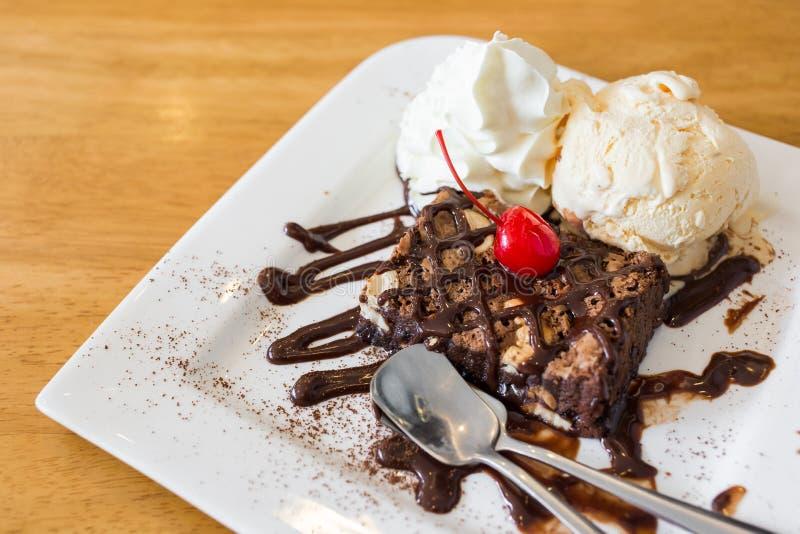 Glace de 'brownie' de chocolat photo libre de droits