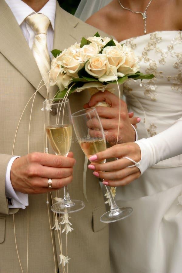 Glace de champagne images libres de droits