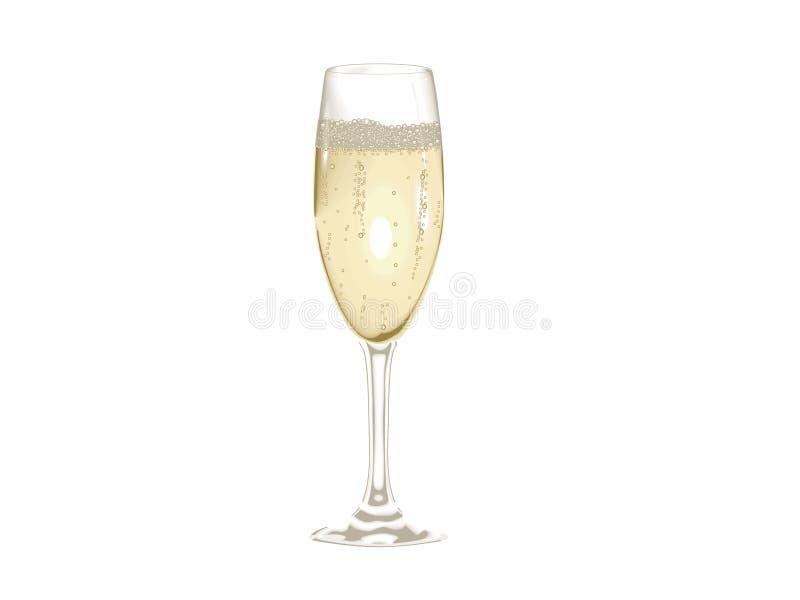 Glace de Champagne illustration de vecteur