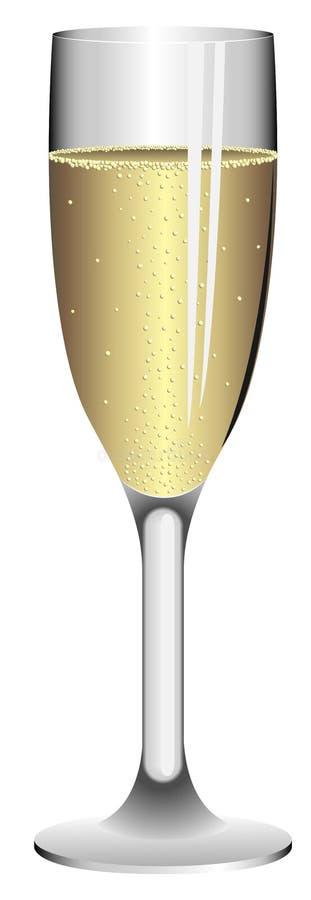 glace de champagne illustration libre de droits