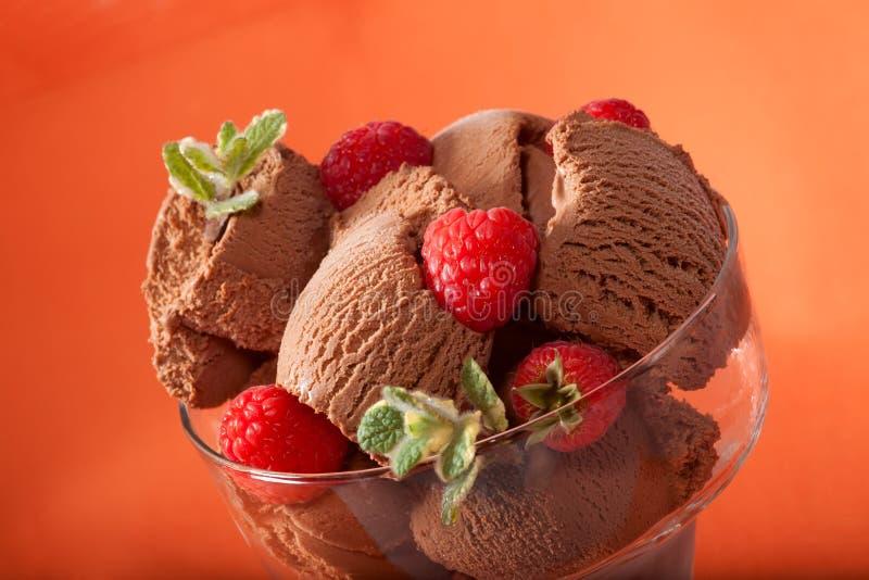 Glace de chocolat images stock