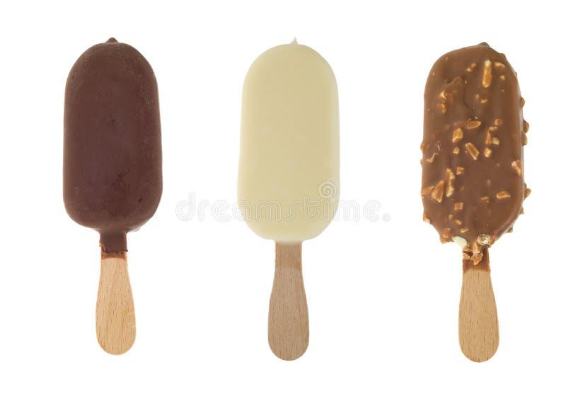 Glace de chocolat photographie stock