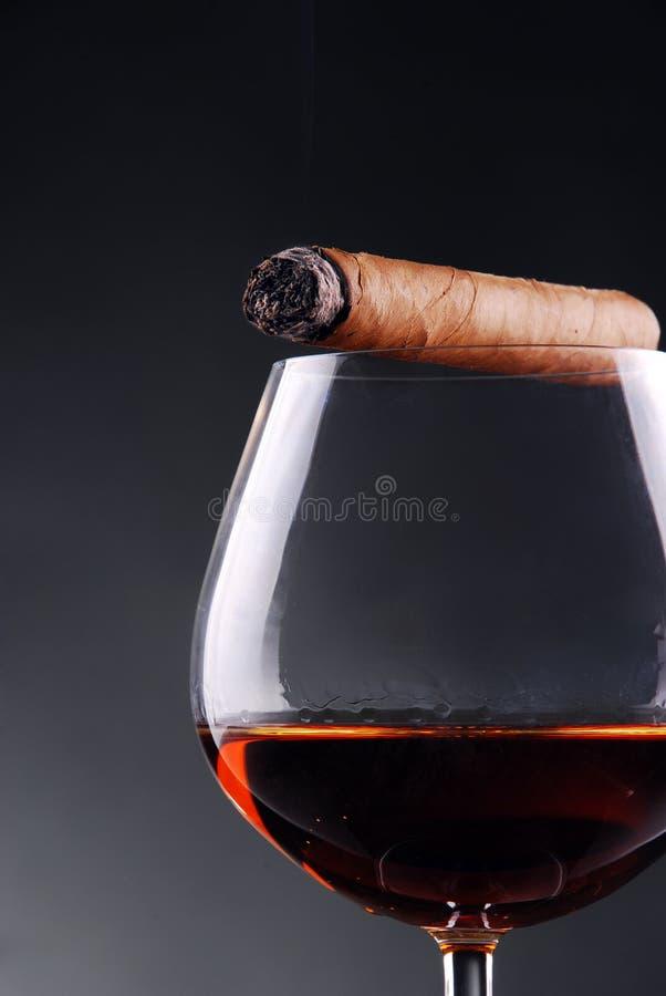 Glace de cognac photographie stock