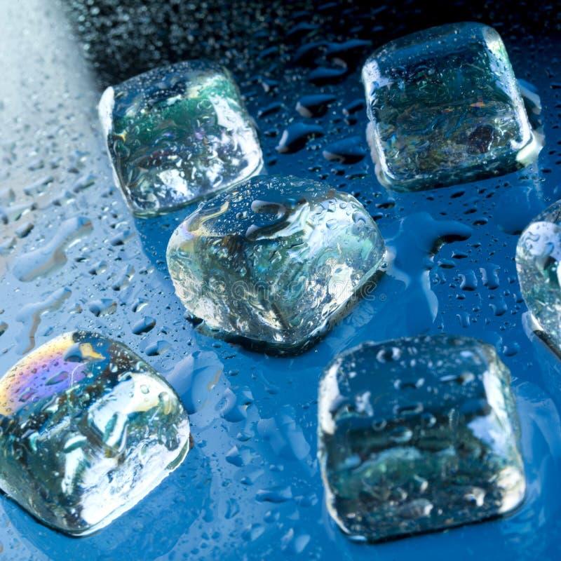 glace de cubes photographie stock libre de droits