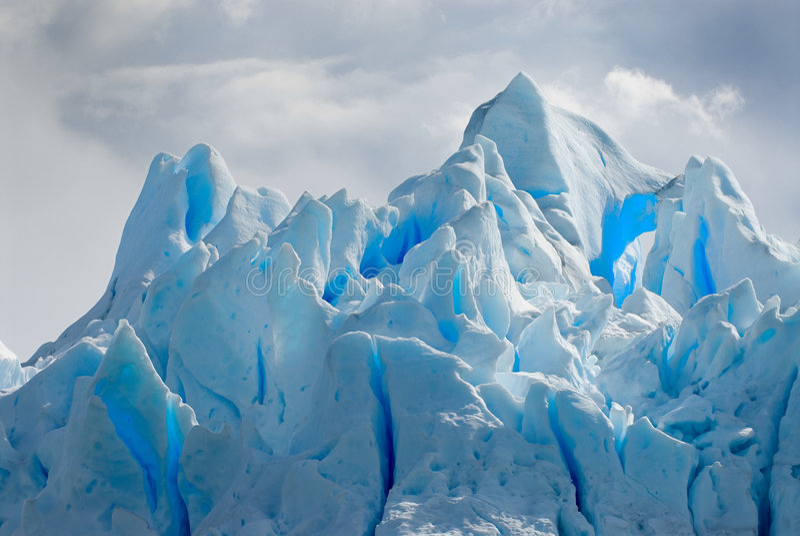 Glace de glacier dans le Patagonia image libre de droits