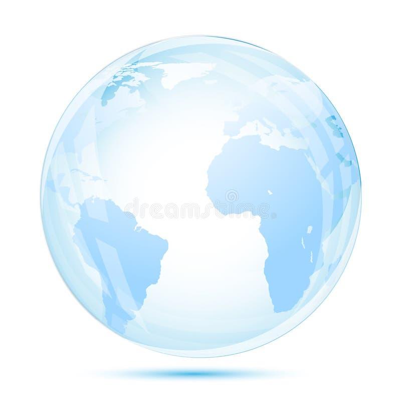 Glace de globe dans le bleu illustration libre de droits