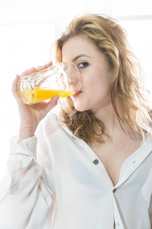 Glace de jus d'orange photo stock