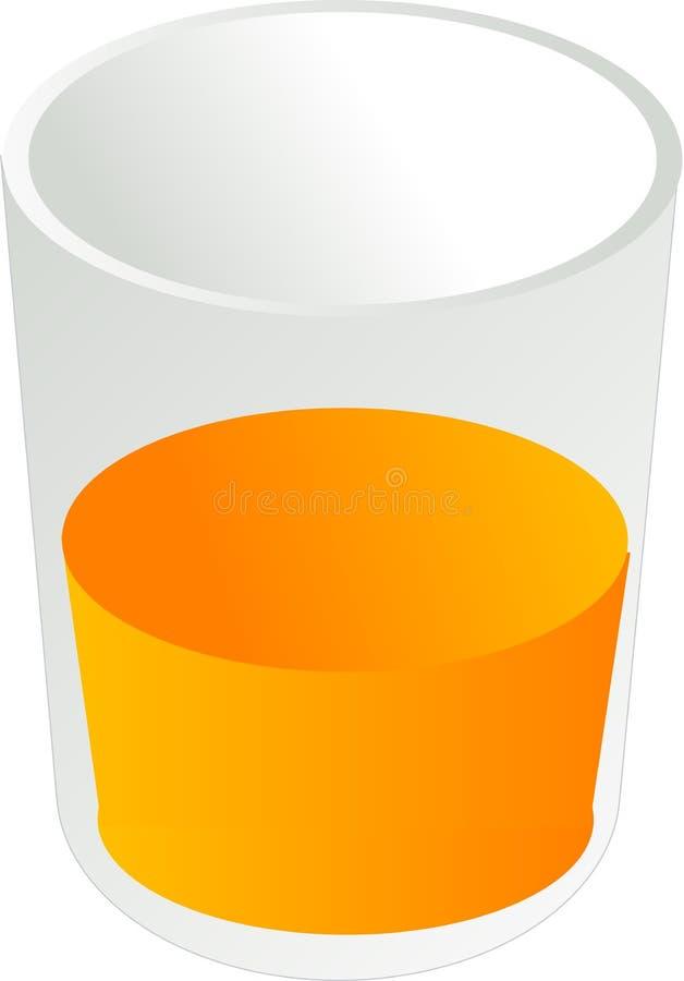 Glace de jus d'orange illustration de vecteur