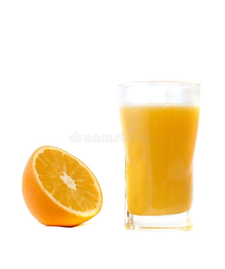 Glace de jus d'orange images libres de droits