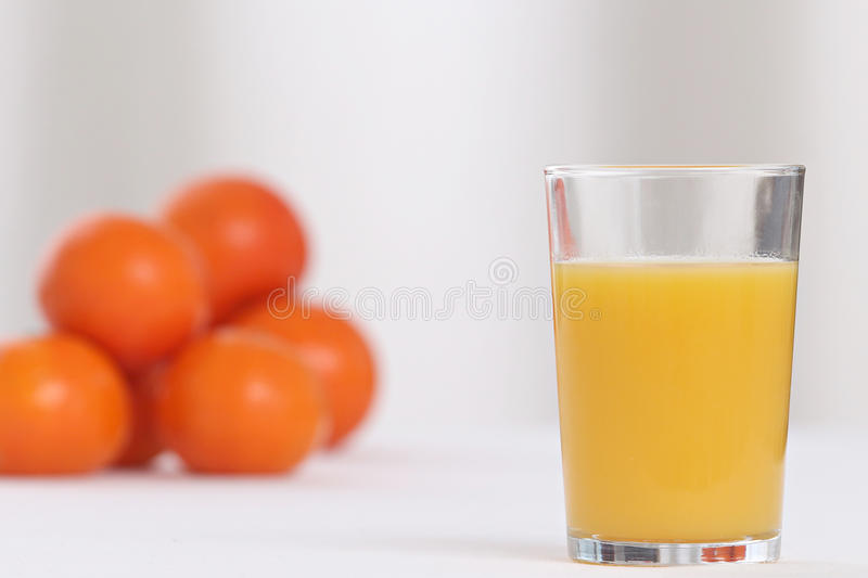 Glace de jus d'orange photo stock