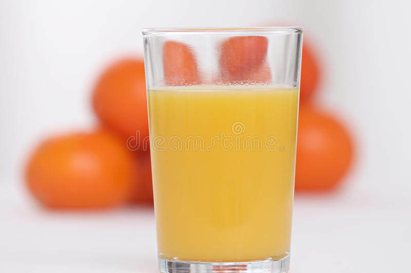 Glace de jus d'orange photographie stock libre de droits