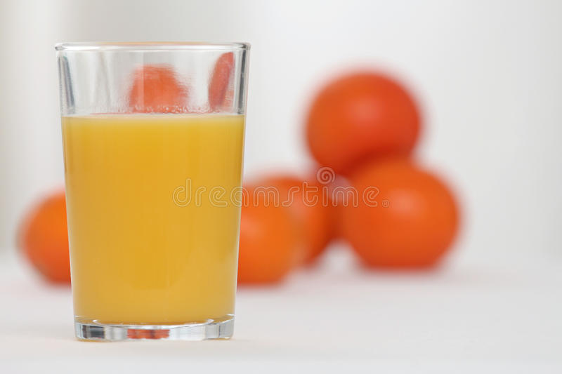 Glace de jus d'orange images stock