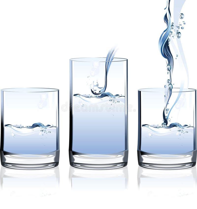 Glace de l'eau. illustration stock