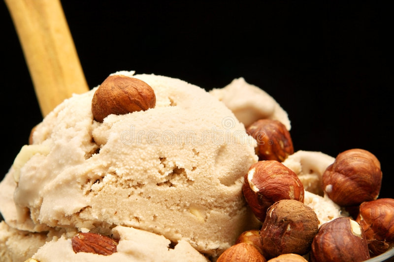 Glace de noisette photo stock