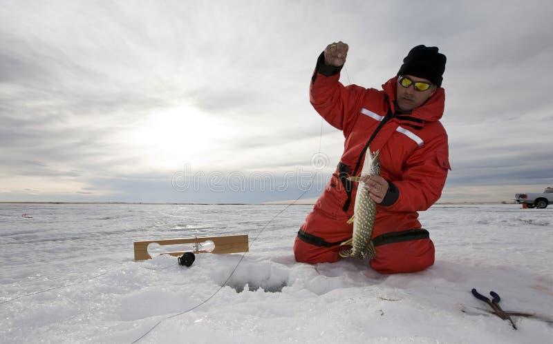 glace de pêche photo stock