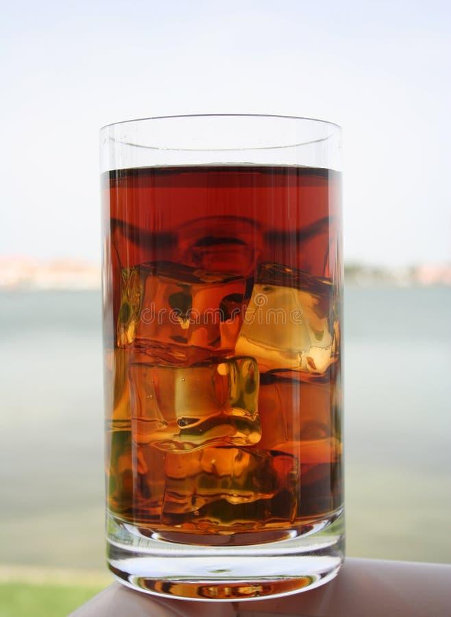 Glace de thé glacé photographie stock libre de droits