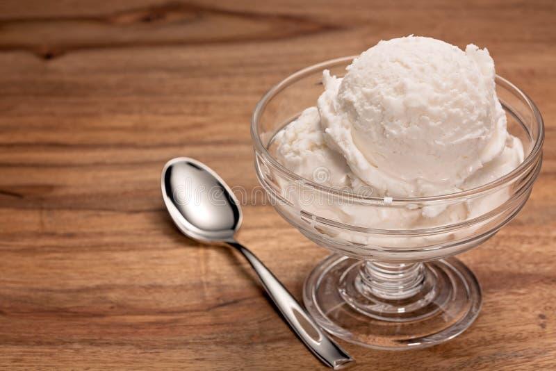 Glace de vanille images stock
