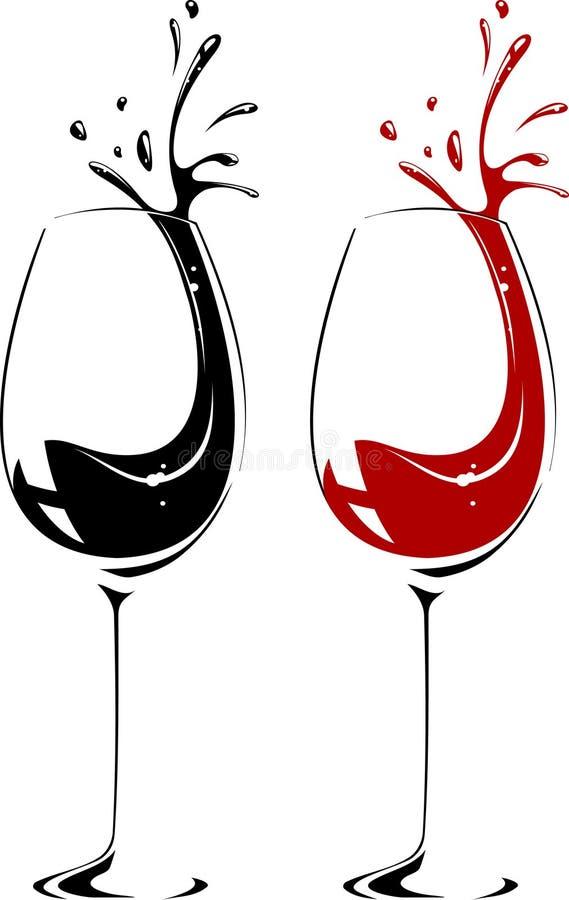 Glace de vin illustration stock