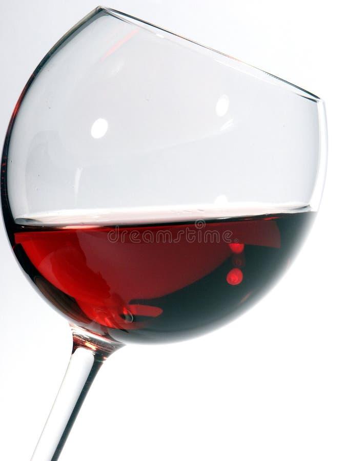 Glace de vin avec du vin images libres de droits